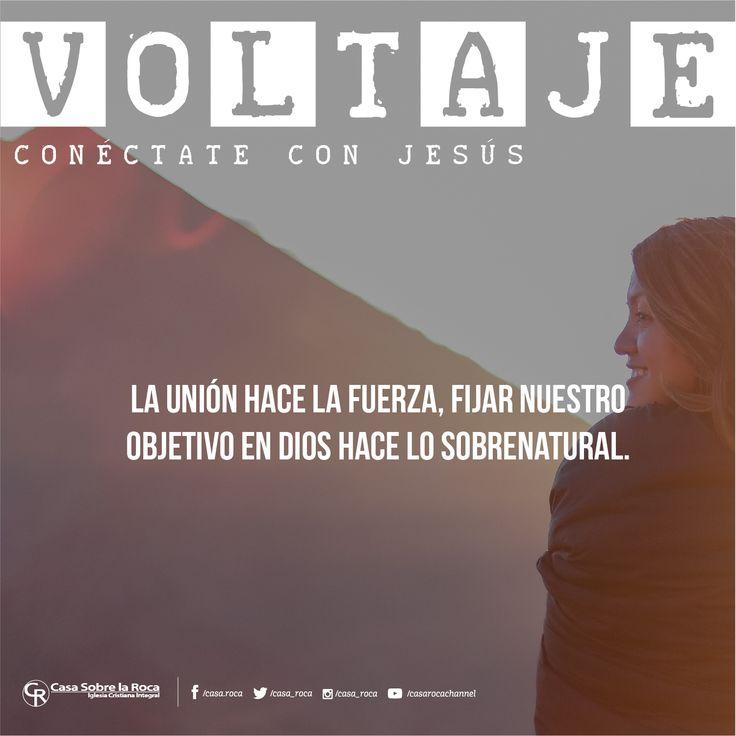 La unión hace la fuerza, fijar nuestro objetivo en Dios hace lo sobrenatural. #ConéctateConJesús http://devocional.casaroca.org/jv/17jun