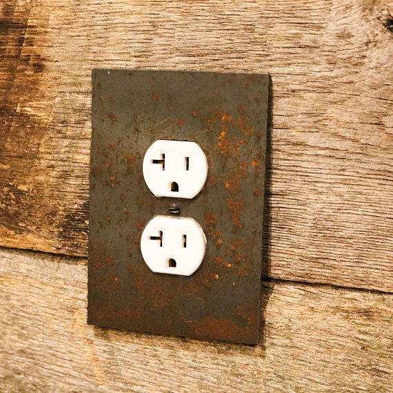 Steel Plate Rustic Outlet And Switch Covers Rustic Plates Steel