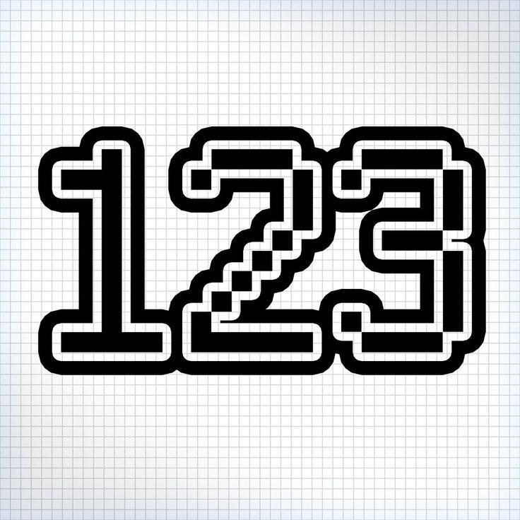 3 x custom race numbers pixel style
