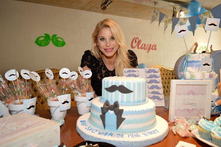 Bigotes, moustache en el Baby Shower de Jimena Cyrulnik