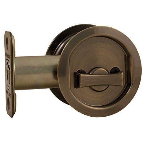 Stone Harbor Hardware, Round Pocket Door Lock Privacy Fun... https://www.amazon.com/dp/B01BKS8PK2/ref=cm_sw_r_pi_dp_x_KdCUybPAHP9WQ