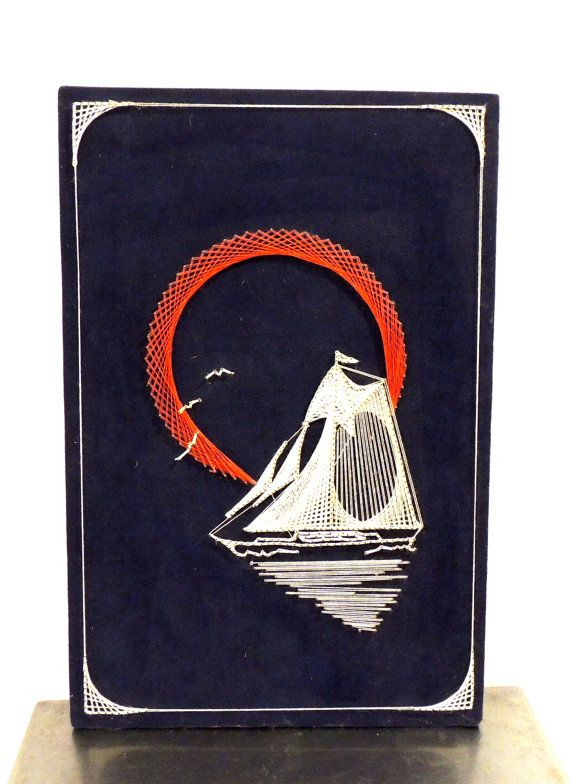 Hey, I found this really awesome Etsy listing at https://www.etsy.com/listing/213705378/vintage-sailboat-string-art-1960s-mid