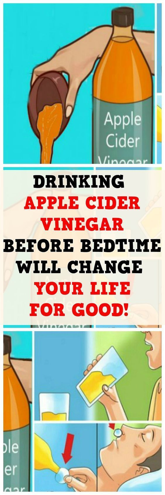 DRINKING APPLE CIDER VINEGAR BEFORE BEDTIME WILL CHANGE YOUR LIFE FOR GOOD!?><>