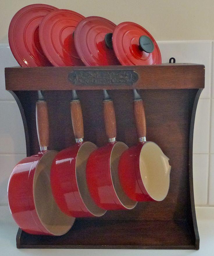 Vintage Le Creuset Pans Stand