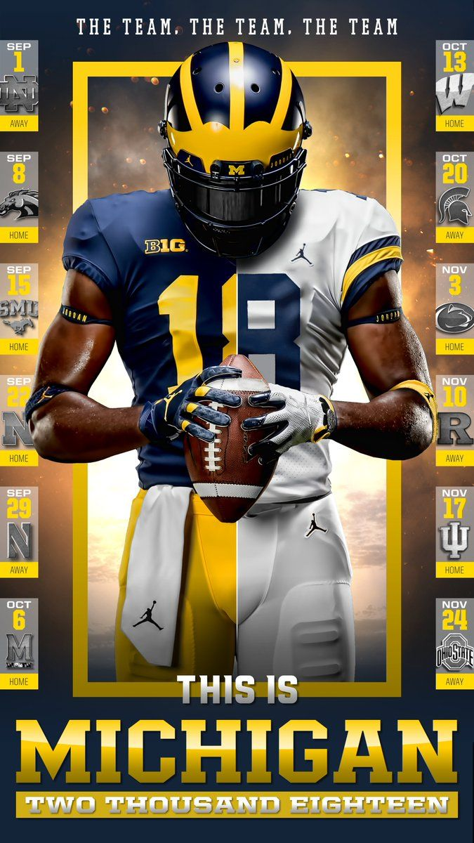Michigan College Sports Graphics Football Michigan Football