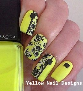 23 Great Yellow Nail Art Designs 2019 #nails #yellownaildesign   – Little Yellow Cab Nails