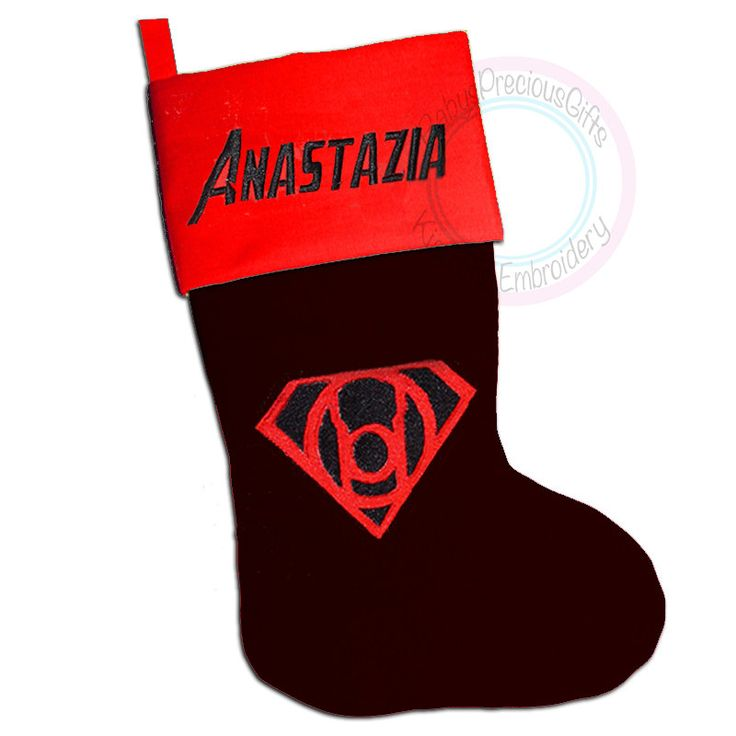 Red Lantern, Personalised, Christmas Stocking, Personalised Stocking, The Justic League, Superhero Character, DC, DC Comic, superhero - pinned by pin4etsy.com