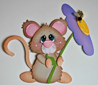 mouse w/flower