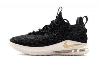 62175ef0968 Nike LeBron 15 Low EP Black Metallic Gold AO1756 001 Men s Basketball Shoes  James Shoes