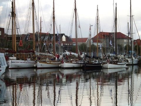 From Casper Olesen of Denmark--yachts at rest in Struer harbour during the annual five-day Limfjorden Rundt/Around the Limfjord race,n