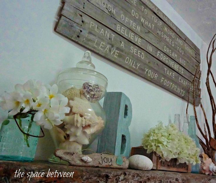 summer mantel decorating ideas - Google Search#
