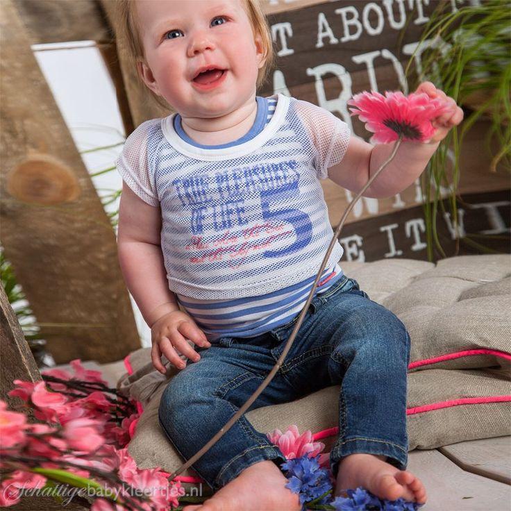 Dirkje babykleding T-shirt met top Pleasures (lila) - Dirkje babykleding
