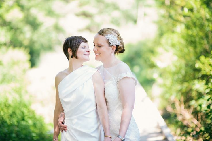 Wedding Photography: Alison Slattery Photography #wedding #love #ido #lesbian #gay #family #brides #twobrides # details #dress #flowers #marriage #willowdale #willowdaleestate