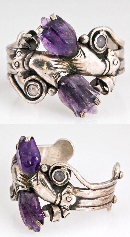 Bracelet | William Spratling. Sterling silver and Amethysts. 1943.