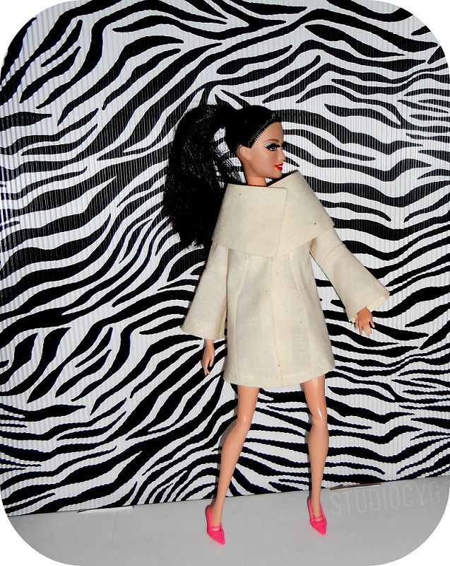 transformational reconstruction doll coat #barbie #studiocyg #miniatureclothing