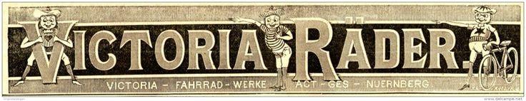 Original-Werbung/ Anzeige 1898 - VICTORIA FAHRRÄDER NÜRNBERG  - ca. 180 x 30 mm