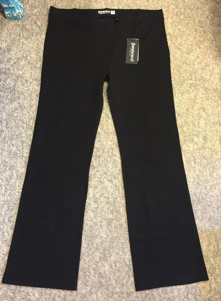 Betabrand NWT Black Dress Pant Yoga Pant Size XL #Betabrand #DressPants