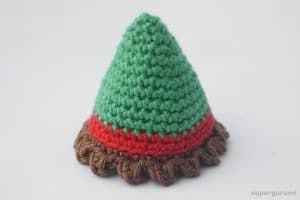 Weihnachtself Häkeln Benötigte Techniken Fadenring Magic Ring