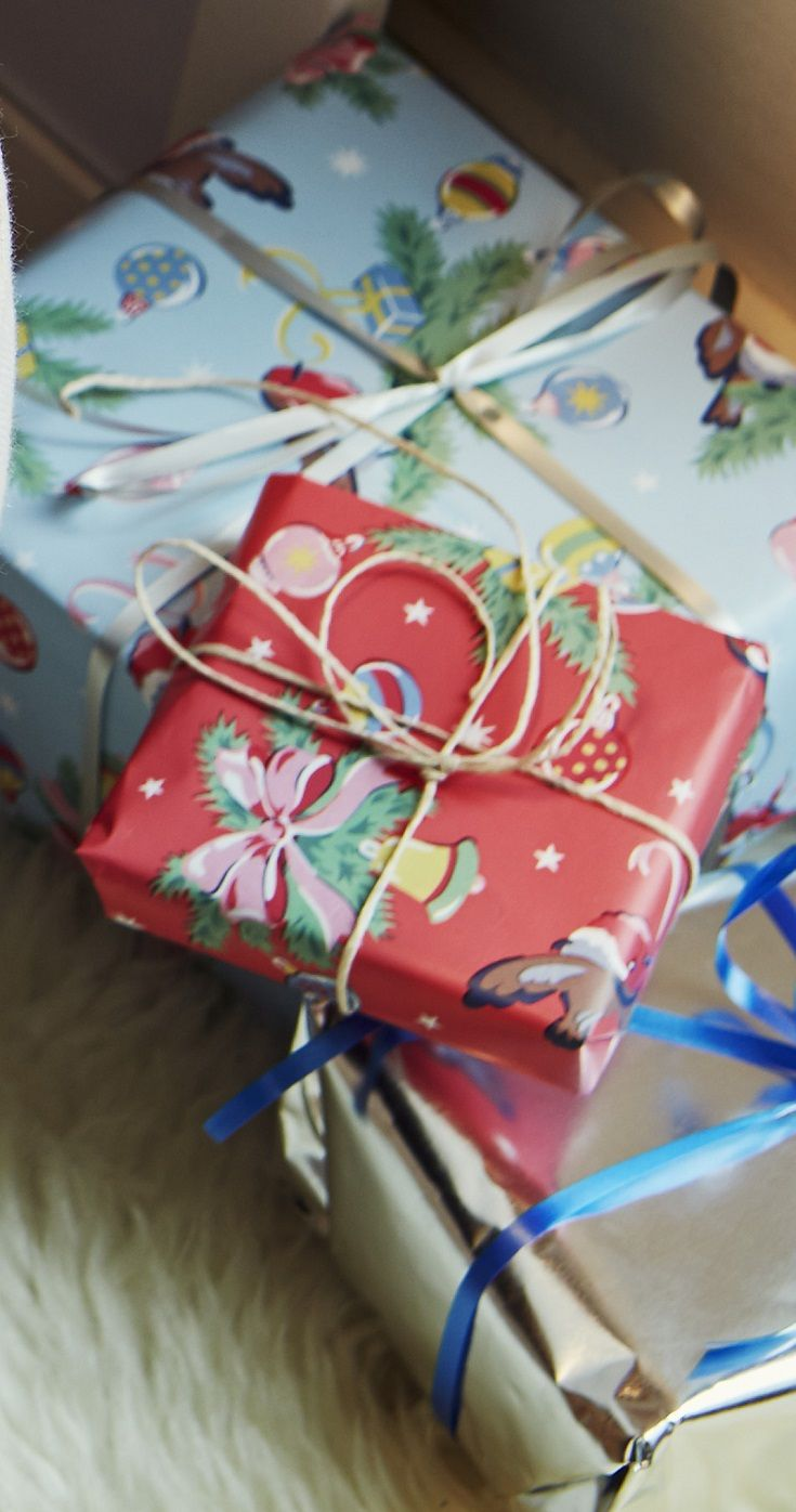 Pretty presents all wrapped up ready to be given