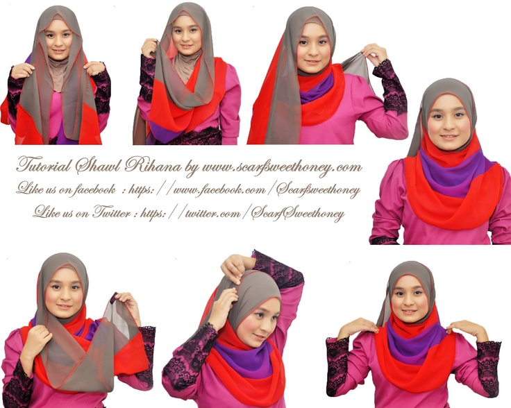 Hijab Tutorial ~ Scarf Sweethoney (i am addicted to long shawl and this is totally my style)