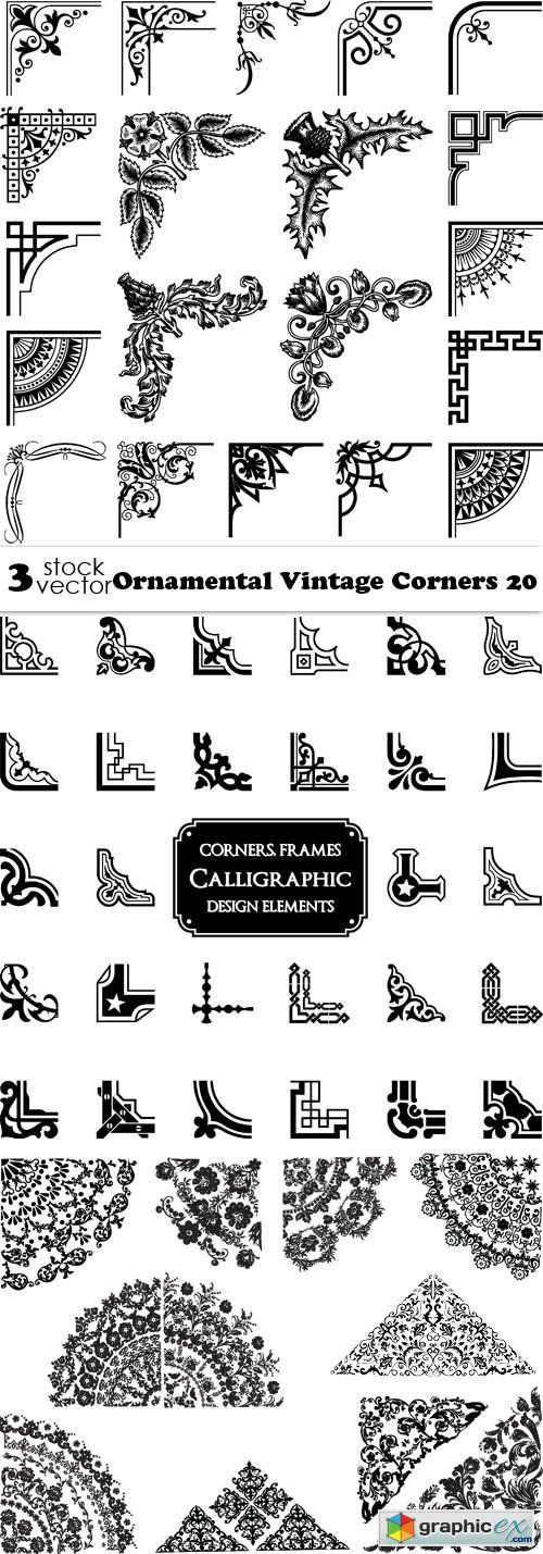 Vectors - Ornamental Vintage Corners 20