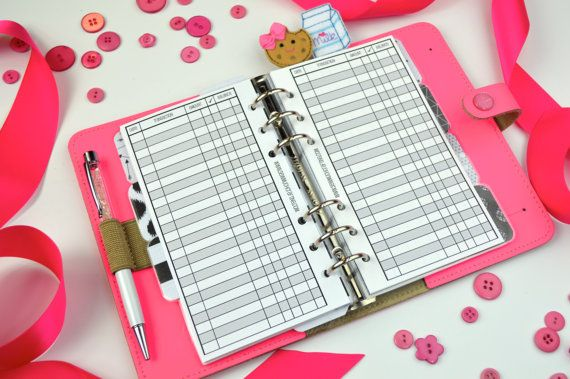 Printed Personal Size Checkbook Register Style by SewMuchCrafting