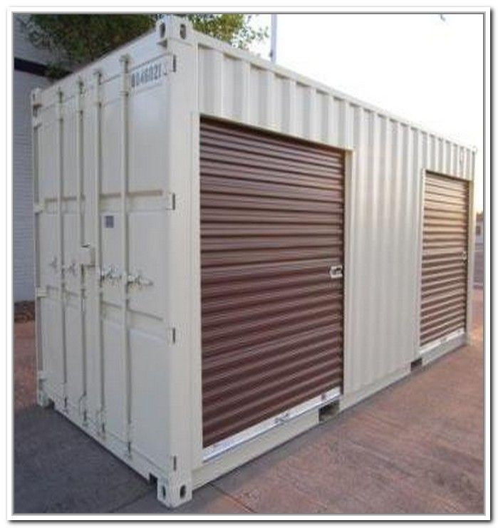 Storage Shed Design Ideas: Shipping Container Storage Shed
