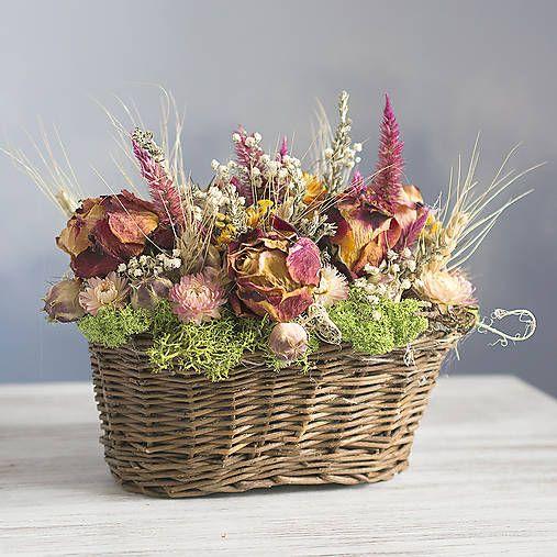 KvetinovyObchodik / Celoročná dekorácia Košíček kvetov