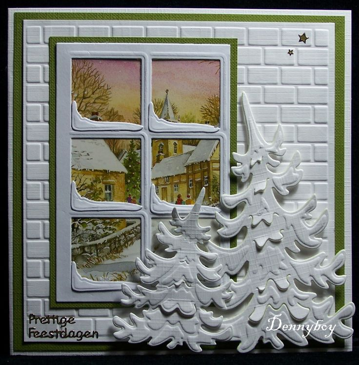 Christmas window card, Kerst 2014