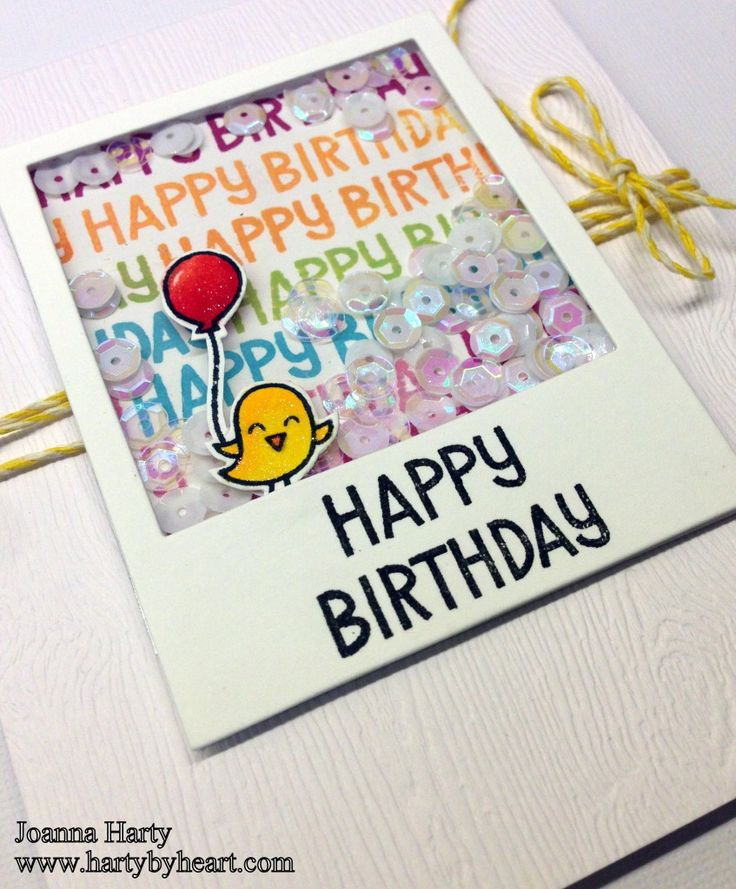 Sequin shaker card. More information over at my blog, www.hartybyheart.com
