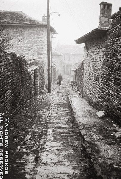 Metsovo Village - A view of the stone houses and paths of Metsovo village, Epirus. (photo by Andrew Prokos)