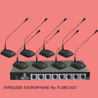 Jual Sound System  Wireless Microphone Wireless Microphone cocok untuk meeting kantor dan presentasi. 2 sets wireless meeting microphone can be used at the same time in the 24MHz receiving bandwidth. Built in 8 channels antenna divider 2 sets receiver can be used at the same time but donts need to connect the outside antenna divider. Grab it fast! #meja #kursi #lemari #computer #kantor #peralatankantor #mediainovasisemarang  http://ift.tt/2f8x08D Sound System