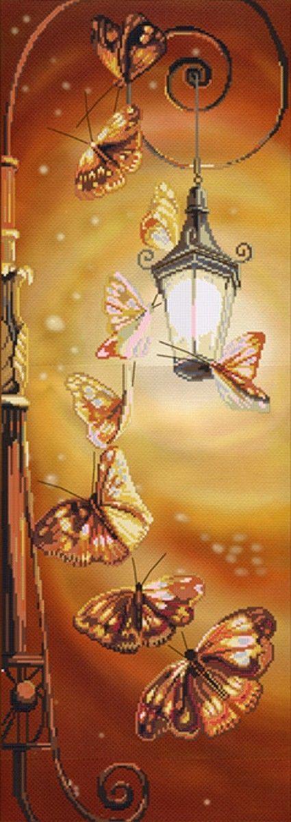 Nova Sloboda  Cp6009  Counted  Cross Stitch  Kit  Romantic Butterflies