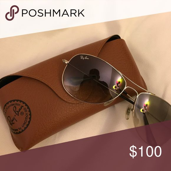 Ray Ban Aviator Sunglasses Silver Ray Ban Aviator Sunglasses. Case Included. Ray-Ban Accessories Sunglasses