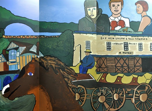 The history behind a great kid-created mural...this section is on 19th & early 20th century San Rafael