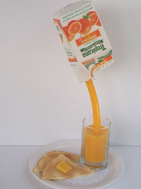 Fake Food And Foods Suspended In Air Make Me So Hy Orange Juice Pinterest Mini