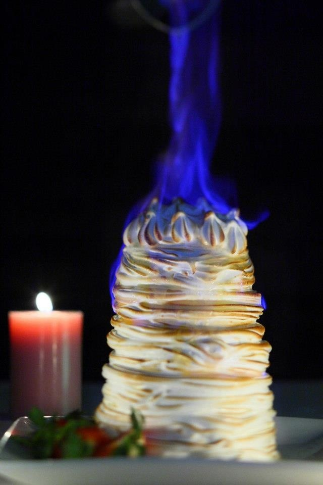 Baked Alaska, mind health, sometimes we need a bit of naughty WOW factor!!!
