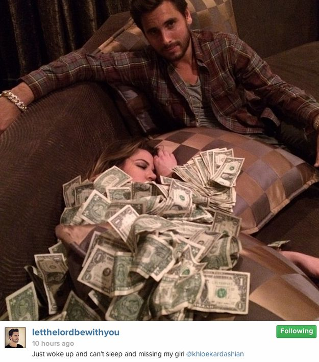 13 Times Scott Disick Showed Off His Money On Instgram
