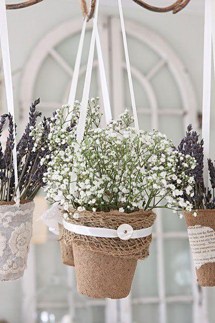 Hanging flower pot... fun for under the patio umbrella
