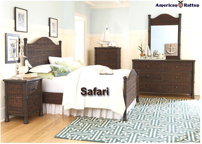 safari black wicker furniture nightstands
