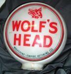 Wolfs Head Wolverine Empire 1940s glass