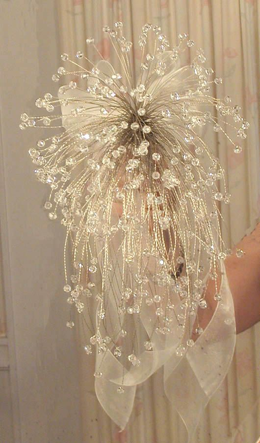 I made my own, and it was very much like this! Beautiful for a wedding bouquet!