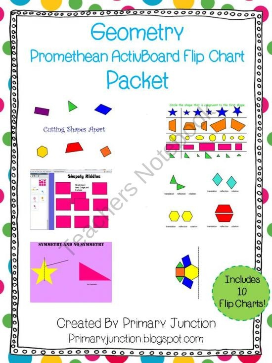 Geometry Unit Flip Chart Packet product from Primary-Junction on TeachersNotebook.com