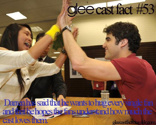 Cast Facts. Another fact about Darren Criss he sings last friday night and was in music video. Don't belive me watch the music video