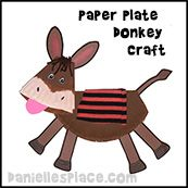 Paper Plate Donkey Craft for Sunday School from www.daniellesplace.com