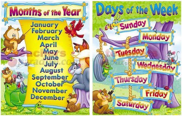 days of the week and months of the year | Nama-nama hari dan bulan dalam bahasa inggris | Vocabulary