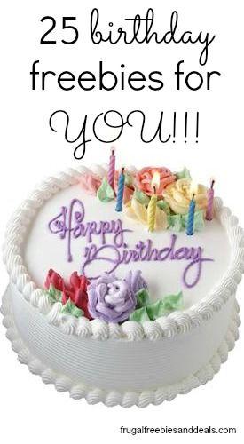 Free Birthday Meals and Other Birthday Freebies http://www.frugalfreebiesanddeals.com/free-birthday-meals-and-other-birthday-freebies/