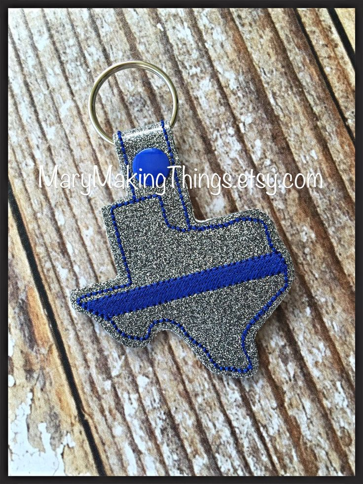 Texas Blue Line - Back the Police Cop - Law Enforcement. Key Fob Support - Police Lives Matter - pinned by pin4etsy.com
