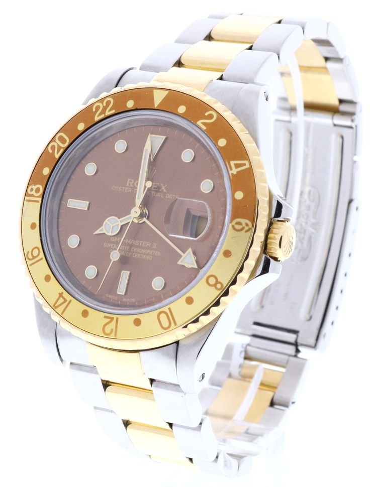 Rolex GMT Master II 16713, LIMITED EDITION, 18ct Yellow Gold & Steel, Bronze Dial & Date. Available to buy now on finance, or for part exchange, at www.humberstonesjewellers.co.uk