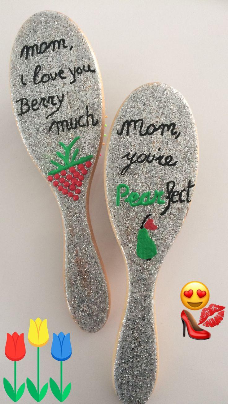 Haarborstel origineel geschenk voor Moederdag  www.pimpyourbrush.be
